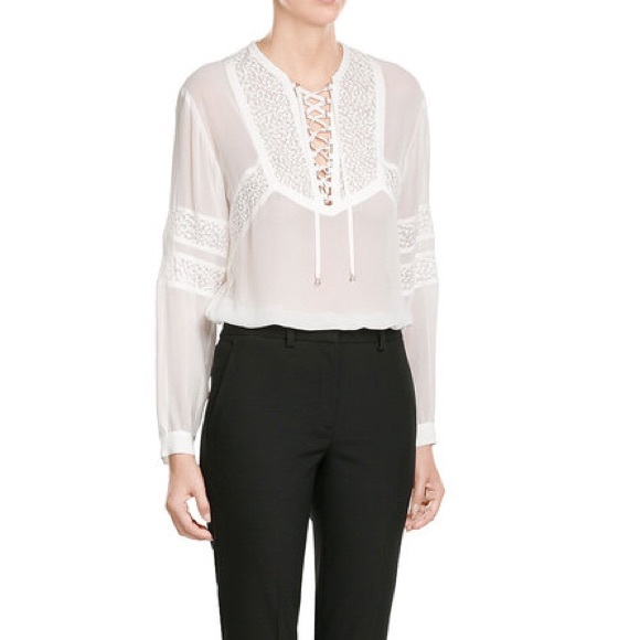6f237e1484c The Kooples Peasant Blouse Lace Inlay. M_5add0a0d3afbbd7838b54c52